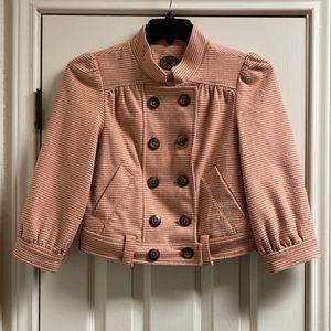 Anthro idra houndstooth jacket puff sleeves
